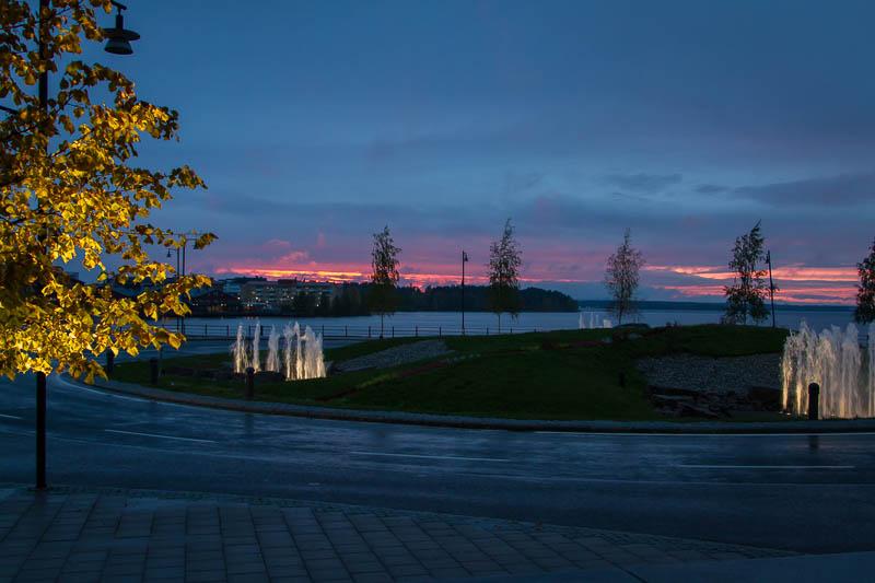 Rondellen utanför Kulturhuset i Luleå