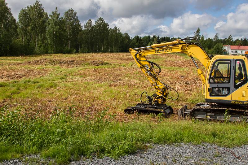 Maskinen som röjt området