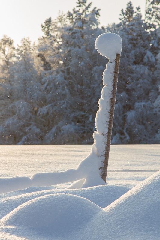 Ett utropstecken i snö